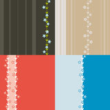 无缝五颜六色的四个的模式 免版税库存照片