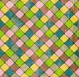 无缝五颜六色的模式的菱形 免版税库存图片