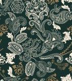无缝五颜六色的花卉的模式 植物装饰品 装饰花和佩兹利 织品的,卡片,网设计 免版税图库摄影