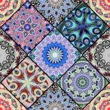 无缝五颜六色的花卉的模式 免版税库存照片
