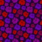 无缝五颜六色的花卉的模式 图库摄影