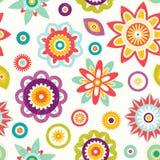 无缝五颜六色的花卉的模式 库存照片