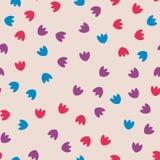 无缝五颜六色的花纹花样 向量 向量例证