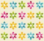 无缝五颜六色的花纹花样 向量例证