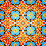 无缝五颜六色的装饰的模式 库存例证
