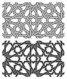 无缝伊斯兰的模式 免版税库存图片