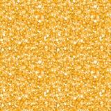 无缝传染媒介金黄发光的闪烁的纹理 免版税图库摄影