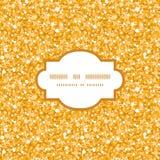 无缝传染媒介金黄发光的闪烁纹理的框架 免版税库存照片