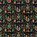 无缝佩兹利的模式 传染媒介五颜六色的花卉背景与 免版税库存图片