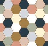 无缝六角形的模式 向量例证