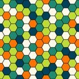 无缝六角形的模式 免版税库存图片