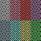 无缝六角形的模式 免版税库存照片