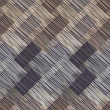 无缝几何的模式 与木纹理的布朗地板 亚洲席子 杂文纹理 库存例证