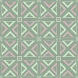 无缝几何的模式 与淡粉红的元素的橄榄绿背景 免版税库存照片