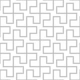无缝几何的模式 传染媒介灰色简单的抽象backgrou 免版税库存照片