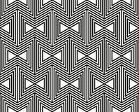 无缝几何的模式 简单的规则背景 与美洲印第安人主题的时髦行家样式 阿兹台克 免版税图库摄影