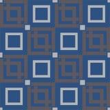 无缝几何的模式 背景蓝色黑暗的无限 库存照片