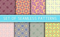 无缝几何的模式 色的背景的汇集 库存图片