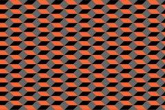 无缝几何的模式 3D幻觉 免版税库存图片