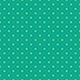 无缝几何绿色的模式 库存图片