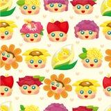 无缝动画片神仙的花纹花样 库存图片