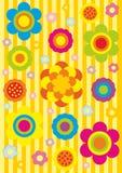 无缝动画片花卉的模式 免版税库存图片