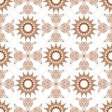 无缝十五个角度星和编织的十字架 免版税库存照片