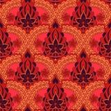 无缝印第安的模式 仿照印地安织品样式的明亮的重复的背景 库存例证