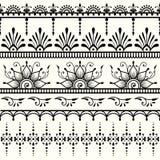 无缝印第安的模式 Mehndi设计 皇族释放例证