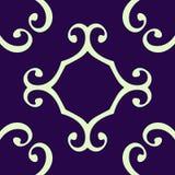 无缝卷曲的模式的重复 向量例证