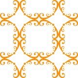 无缝卷曲的模式的重复 库存例证