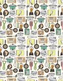 无缝厨房的模式 免版税库存照片