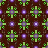 无缝可用的美好的eps花卉格式的模式 免版税库存图片