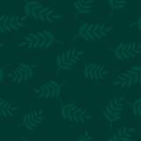 无缝叶子的模式 抽象背景 库存照片