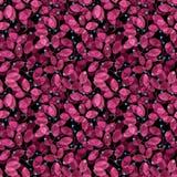 无缝叶子的模式 桃红色水彩 免版税图库摄影
