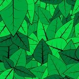 无缝叶子的模式 免版税库存图片
