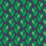无缝叶子的模式 库存例证