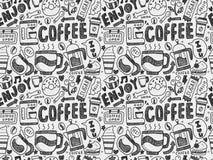 无缝咖啡的模式 库存照片