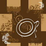 无缝咖啡的模式 免版税图库摄影