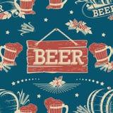 无缝啤酒的模式 免版税库存照片