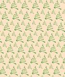 无缝圣诞树的纹理 库存照片