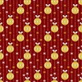 无缝圣诞节的模式 向量背景 免版税库存照片