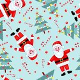 无缝圣诞节的模式 免版税库存照片