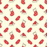 无缝圣诞节的模式 免版税图库摄影
