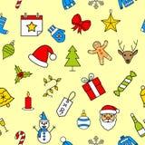 无缝圣诞节的模式 库存图片