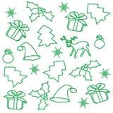 无缝圣诞节的模式 库存照片