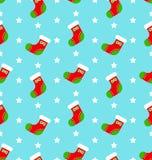 无缝圣诞节的长袜 库存例证