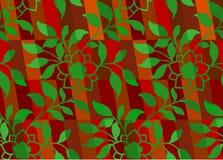无缝圣诞节花卉的模式 库存照片
