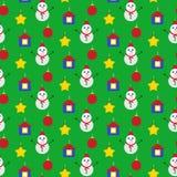 无缝圣诞节装饰的模式 库存照片
