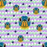 无缝在白色背景的乌龟画象与的紫罗兰 免版税库存图片